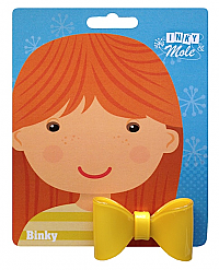 Beatrice ponytail bow - yellow