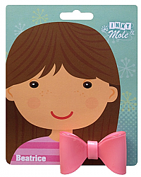 Beatrice ponytail bow - candy pink